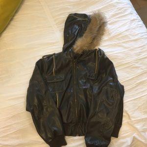 6957661da Steve Madden Juniors Faux-leather Bomber Jacket